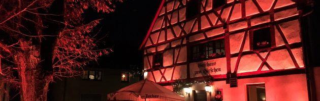 Architekturbeleuchtung beim Büchenbacher Weihnachtsmarkt